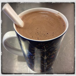 En mugg riktigt god varm choklad