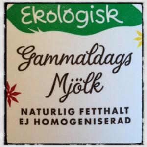 Ekologisk gammaldags mjölk